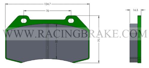 [PDC8-R-391A] RB Street Brake Pads - Corvette C8 Non-Z51 Rear