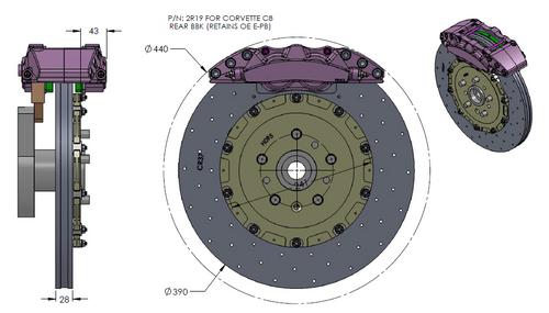 RB-CCB System BBK (394x36/390x28) for Corvette C8 (P/N 2C38-K & 2R19-K)