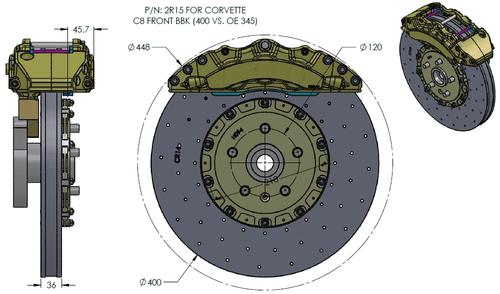 RB-CCB System BBK (400x36/390x28) for Corvette C8 (P/N 2C15-K & 2R19-K)