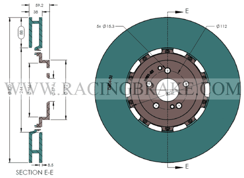 RB 2pc Rotor (420x38 vs. 420x40) for Mercedes GTS/GTR and Others Front (CCB to Iron Convesion)