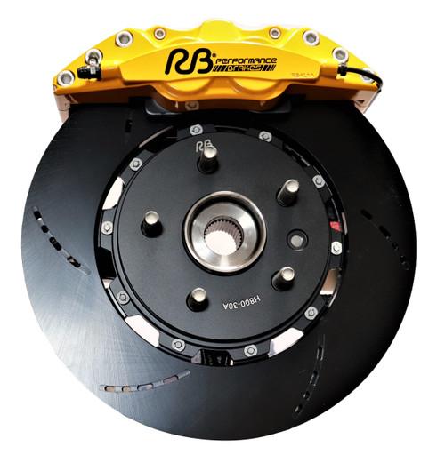 """RB Track Duty 4 Pot Caliper Kit (350x32) for Jeep Trackhawk & ALL WK2 Downsize Kit (Fits 18"""" Wheels)"""