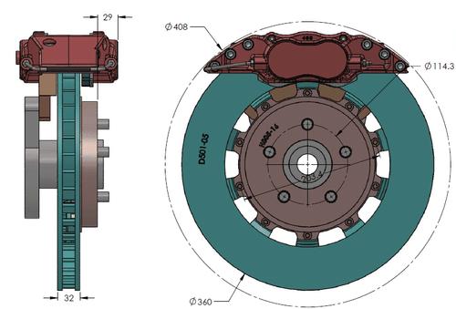 RB 4 Pot Caliper Brake Kit (360x32mm) for Ford Explorer ST (2020+) Front