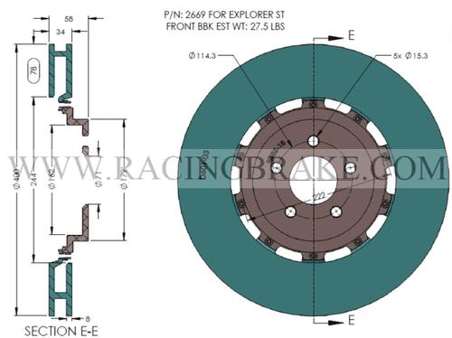 RB 6 Pot Caliper BBK (400x34mm) for Ford Explorer ST (2020+) Front