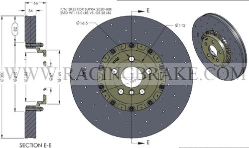 RB-CCB (380x34) Kit for Supra MK5/BMW Z4M Front