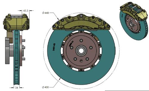 RB BBK (400/390) for Corvette C8 Front & Rear (P/N 2659-K & 2646-K)