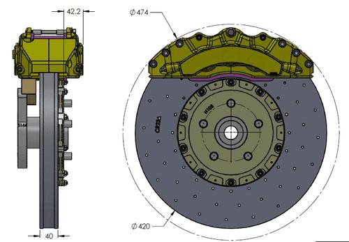 RB-CCB System Kit (420x40/390x32) for Jeep Trackhawk 2018+ (P/N 2R29-K & 2C50-K)