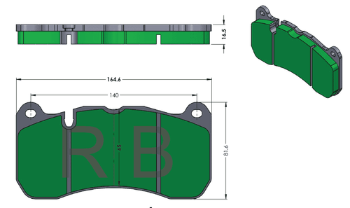 [PD1666.PD968] Track Pads for RB6M & RB4M Calipers