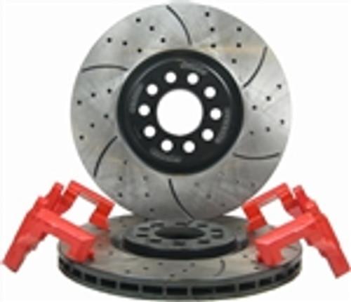 Big Brake Kit (OE Caliper, Slot) - JETTA VR6, 1.8T FRONT 99-04