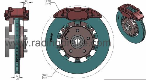 RB Caliper Kit (324x24) for Mazda RX-8 Stock & Miata NC (06-15) BBK