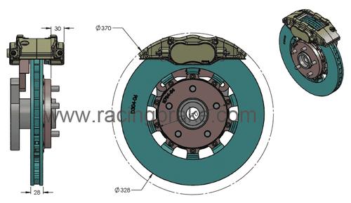 RB Caliper BBK (328x28) for RX8 & Miata NC Front