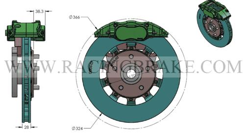 RB Caliper BBK (324x28) for NSX 91-05 Front
