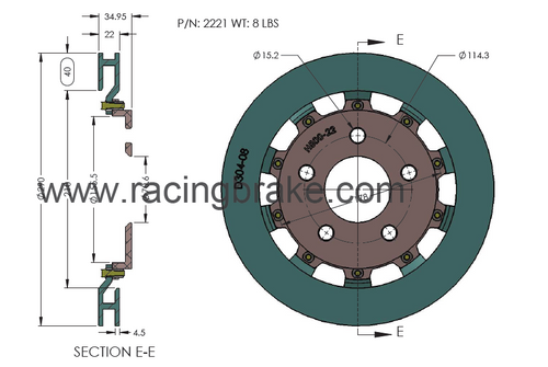 RB 2 pc Rotor Kit - Ford Mustang 2005-14 Rear