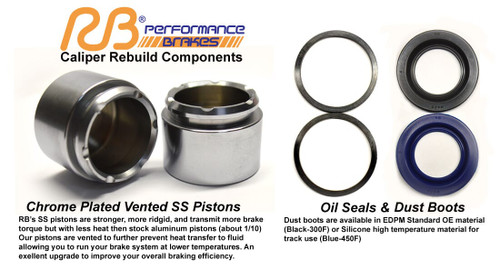 Save 10% on Rebuild Kit for Porsche 993 C2/C4, RS, Turbo Front Calipers (Price is for 2 Calipers)