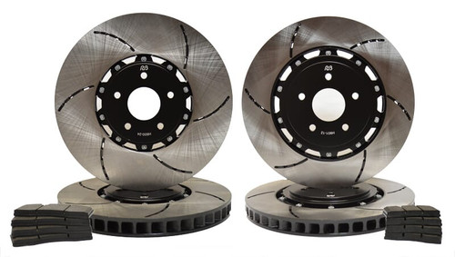 Fit 1992-2000 Dodge Viper HartBrakes Full Kit  Brake Rotors+Ceramic Brake Pads