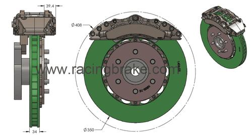 RB Caliper Kit (350/348) Kit for 12-17 Ford F-150/Raptor (PN 2570-K & 2571)
