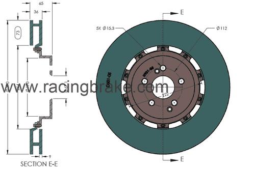 RB 2 pc Rotor Kit (390/360mm) for Mercedes C63 AMG Black Series (P/N 2237 & 2430)