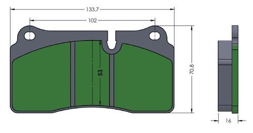 [PD1155-3R7] RB Brake pad (Track): BMW F8X M3/M4 CCB Rear