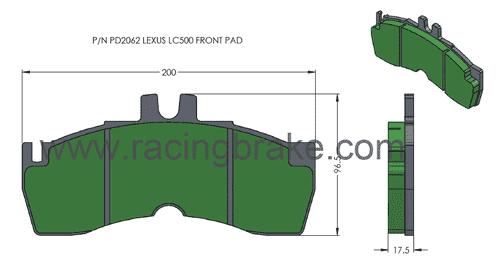 [PD2062-391] RB XT910 Brake Pad: Lexus LC500 & LS500 Front