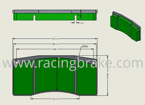 [PDS105-397] RB XT970 Brake Pad: Alcon Type B Caliper