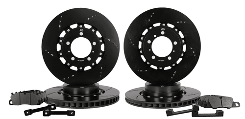 RB  2pc Rotors BBK for Porsche 991 C2/C4S, GTS Front & Rear Upgrading from Original (340/330) to (380/380) (P/N 2507-K & 2508-K)
