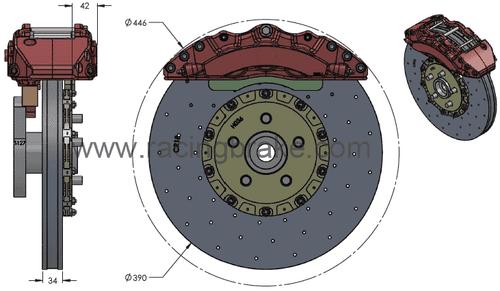 RB-CCB System Kit (390/390mm) for Dodge SRT Challenger Hellcat (2C63-K & 2C64-K)