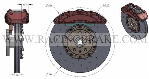 RB-CCB System Kit (394/390) for Camaro G5 (10-15) (P/N 2C38 & 2C83)