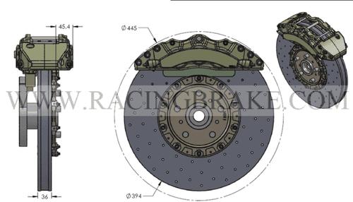 RB-CCB System Kit (394/380) for Corvette C6 (P/N 2C01-K & 2C02-K)