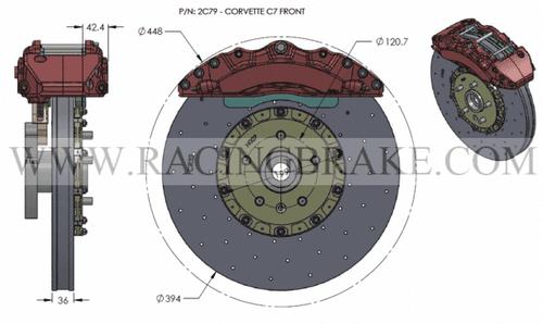 RB-CCB System Kit (394/390) for Corvette C7 (P/N 2C01-K & 2C52-K)