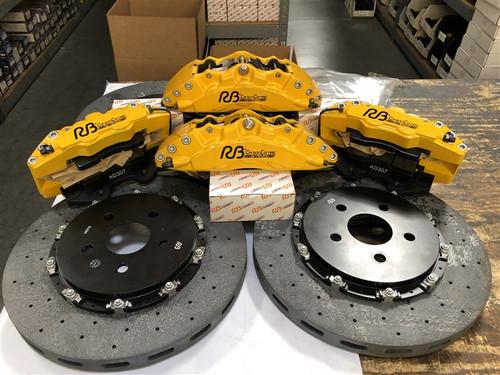 RB CCB System Kit (390/360) for Tesla Model S & X Front & Rear (P/N 2C49-K & 2C33-K)