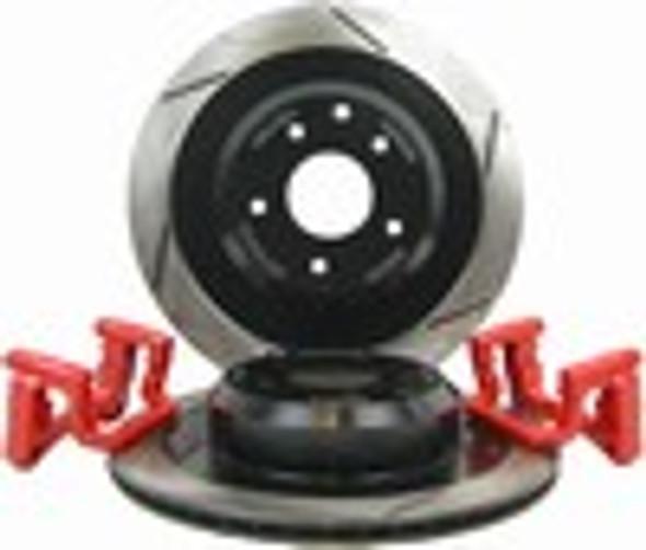 Big Brake Kit (OE Caliper, Slot) - G35 (non-Brembo) REAR 03-07