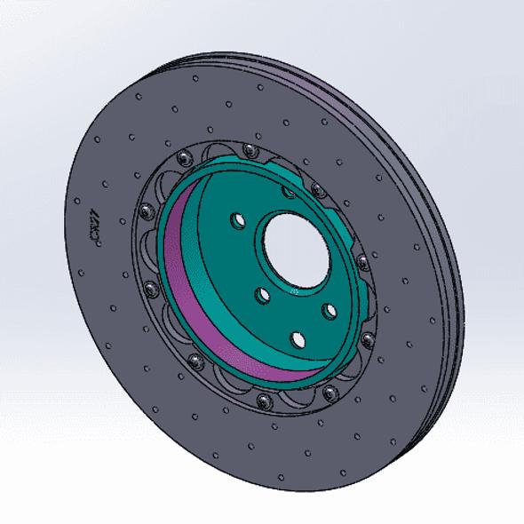 2 ea. RB Light Wt Rotor Hat for Camaro G5 (390x32mm) (Incl. Hardware Set)