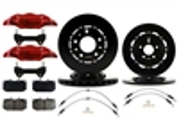 Racingbrake Front & Rear OE Size Kit w/RB 4 POT Calipers for Mazda Miata NC 06-15 (P/N 2228 & 2557)