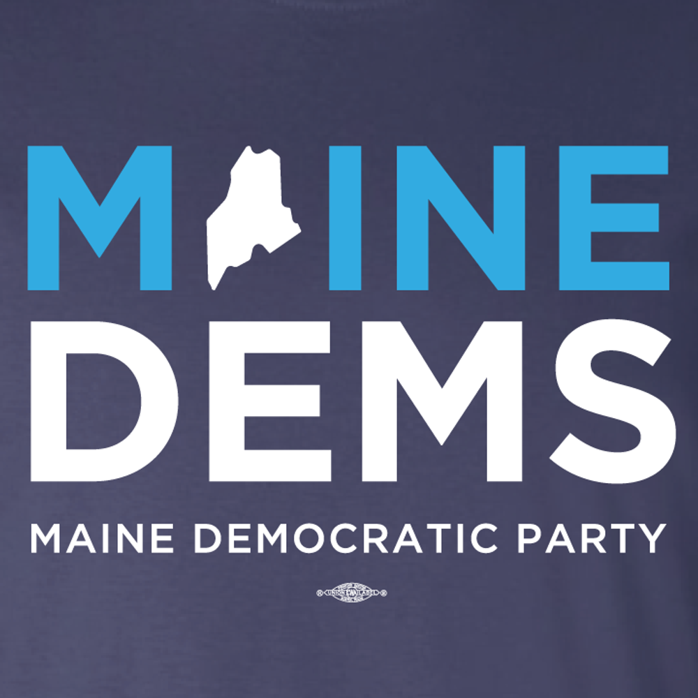 Maine Democratic Party Official Logo (Fitted Navy Tee)