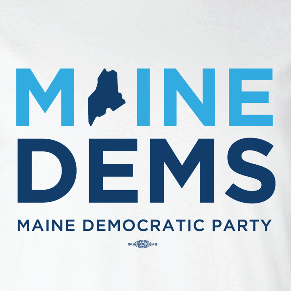 Maine Democratic Party Official Logo (Ladies White Tee)