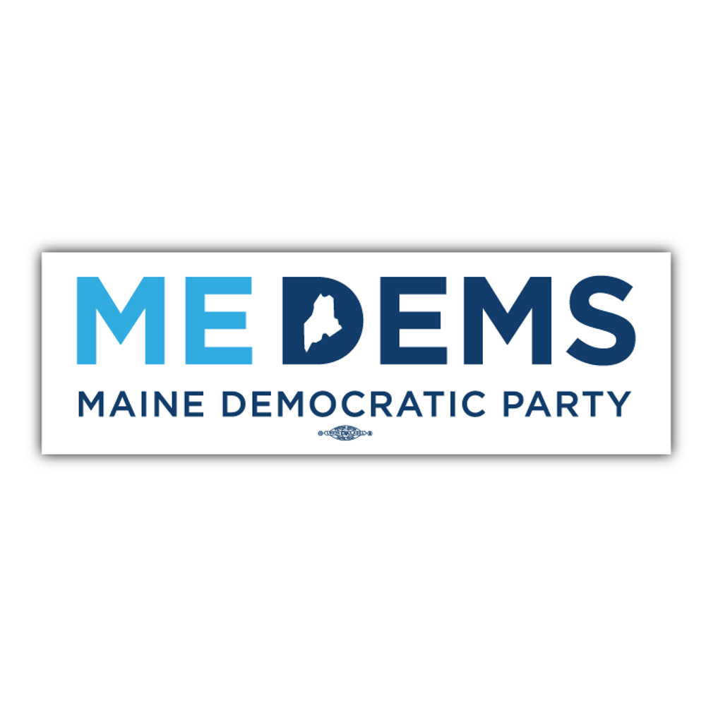 """Maine Democratic Party Official Logo (9"""" x 3"""" Vinyl Sticker -- Pack of Two!)"""
