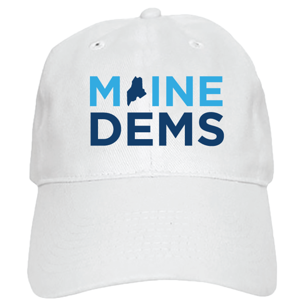 Maine Democratic Party Official Logo (White Baseball Cap)