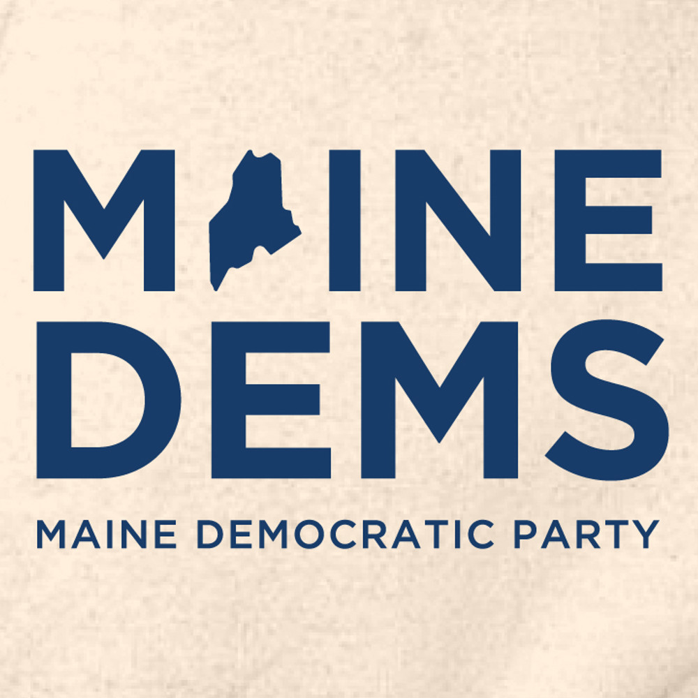 Maine Democratic Party Official Logo  (Natural - Adult Hooded Pullover Fleece)