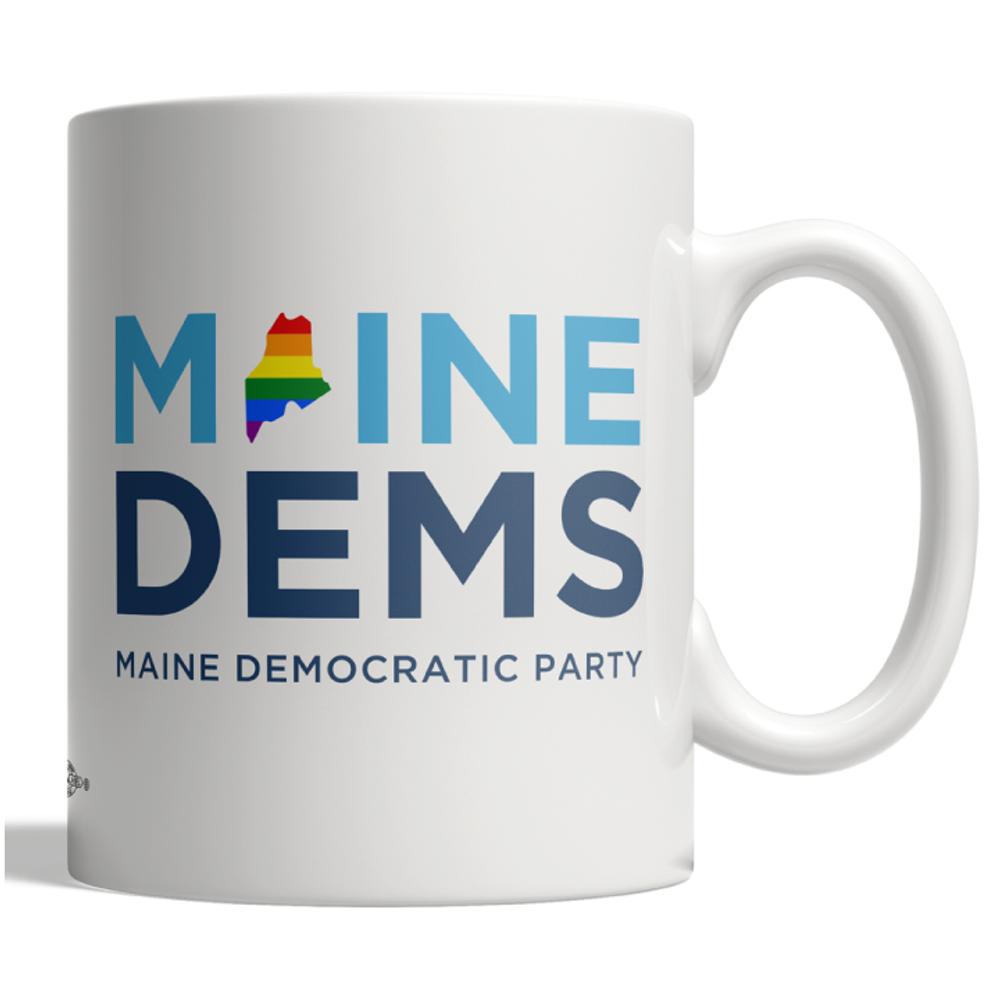 Maine Dems - Pride (11oz Ceramic Mug)