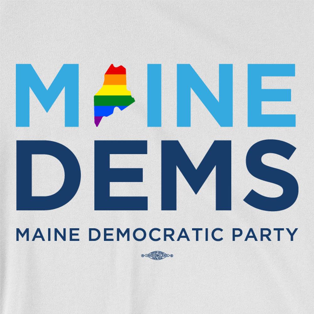 Maine Dems - Pride (Unisex & Women's White Tee)