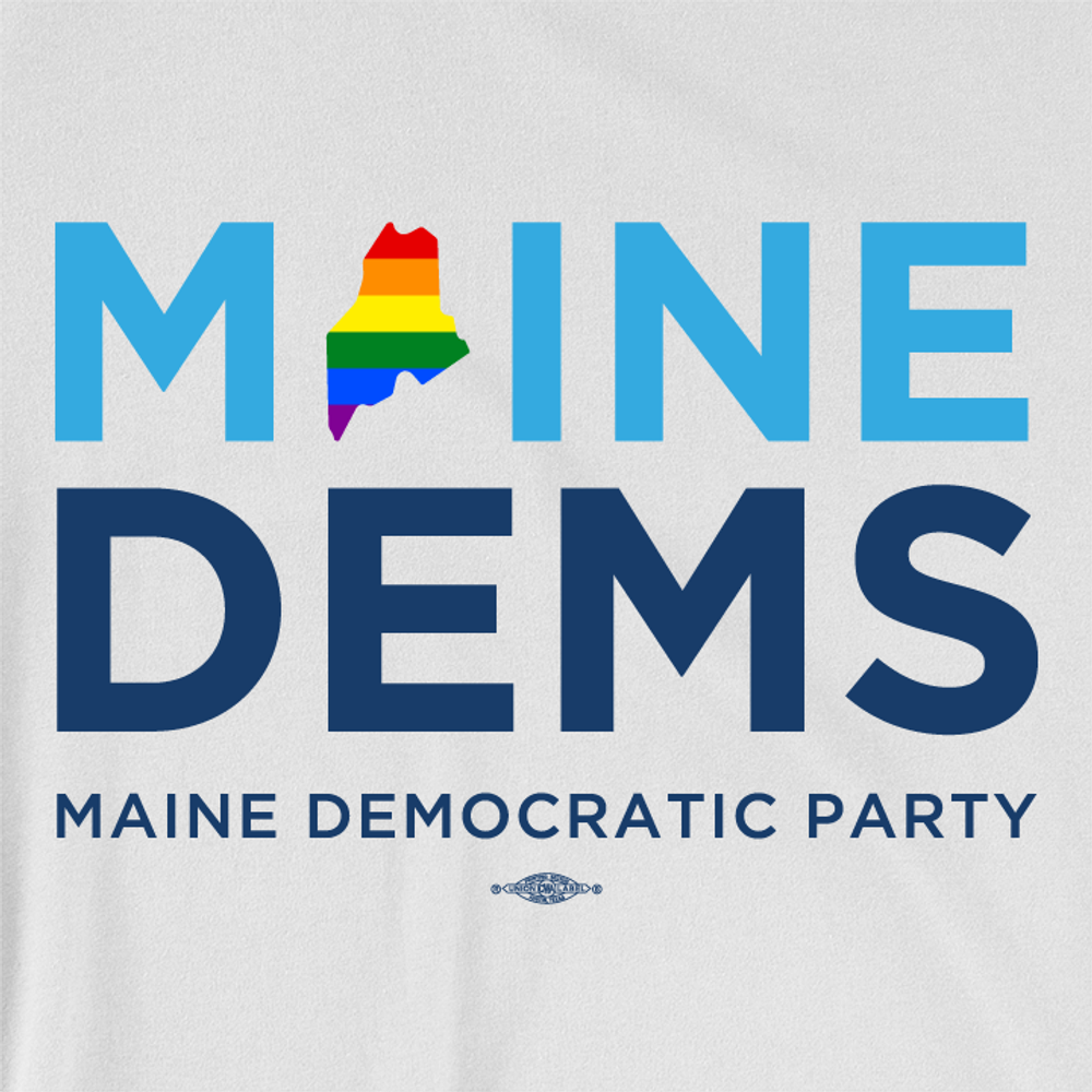 Maine Dems - Pride (Unisex & Fitted White Tee)