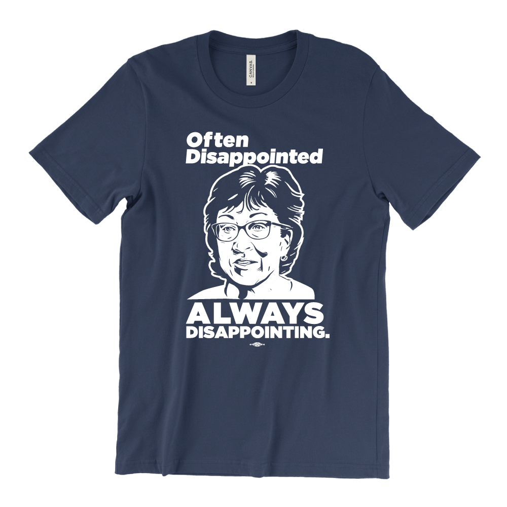 Always Disappointing (Unisex & Fitted Navy Tee)