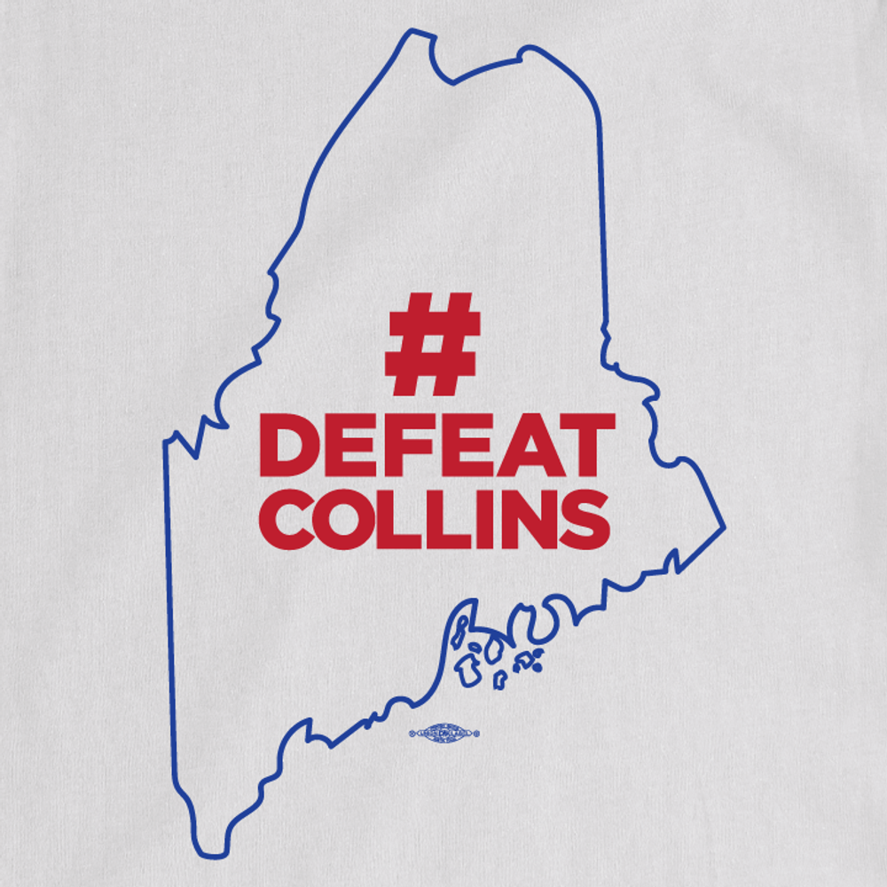 #DefeatCollins State Outline (Unisex & Women's White Tee)