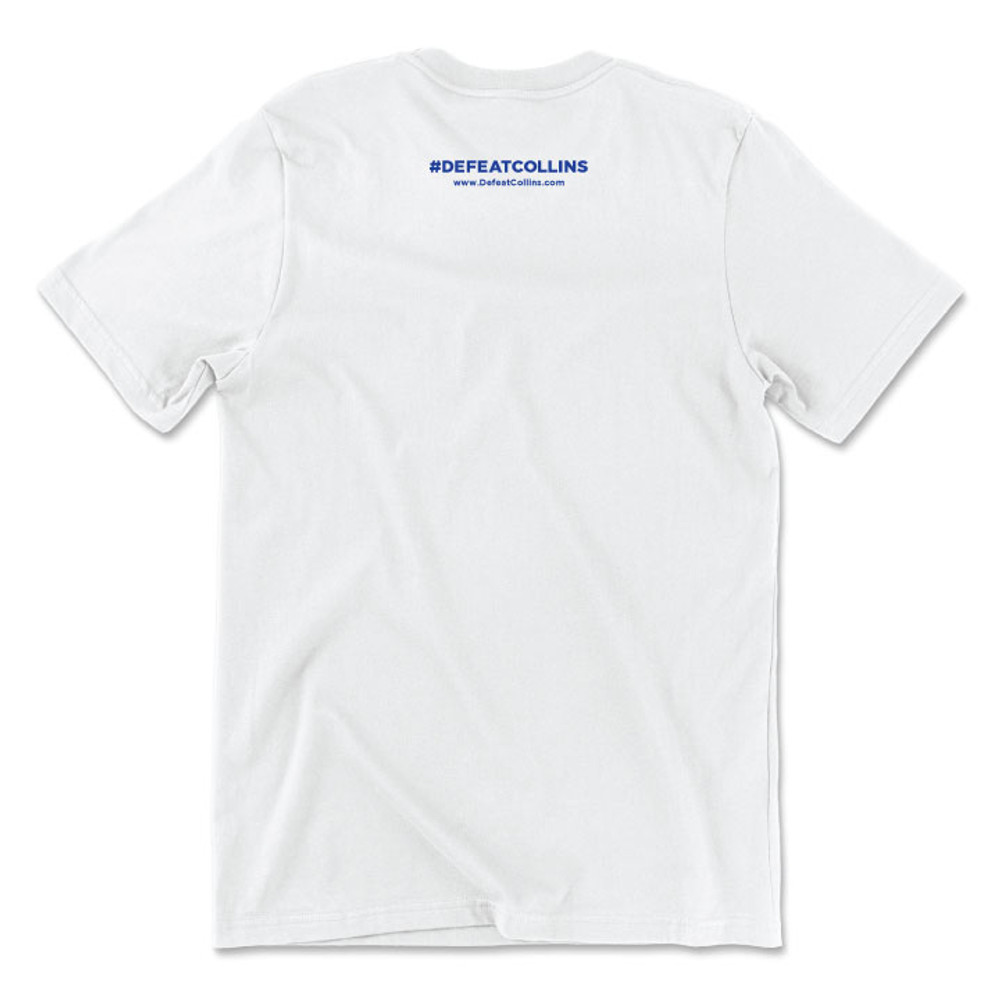 #DefeatCollins State Outline (Unisex & Fitted White Tee)