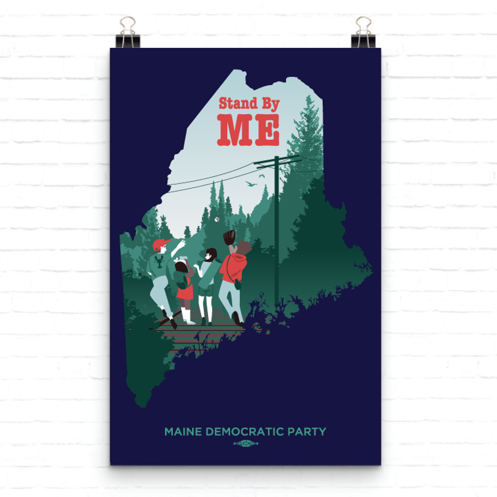 """Stand By ME (11"""" x 17"""" Fine Art Poster)"""