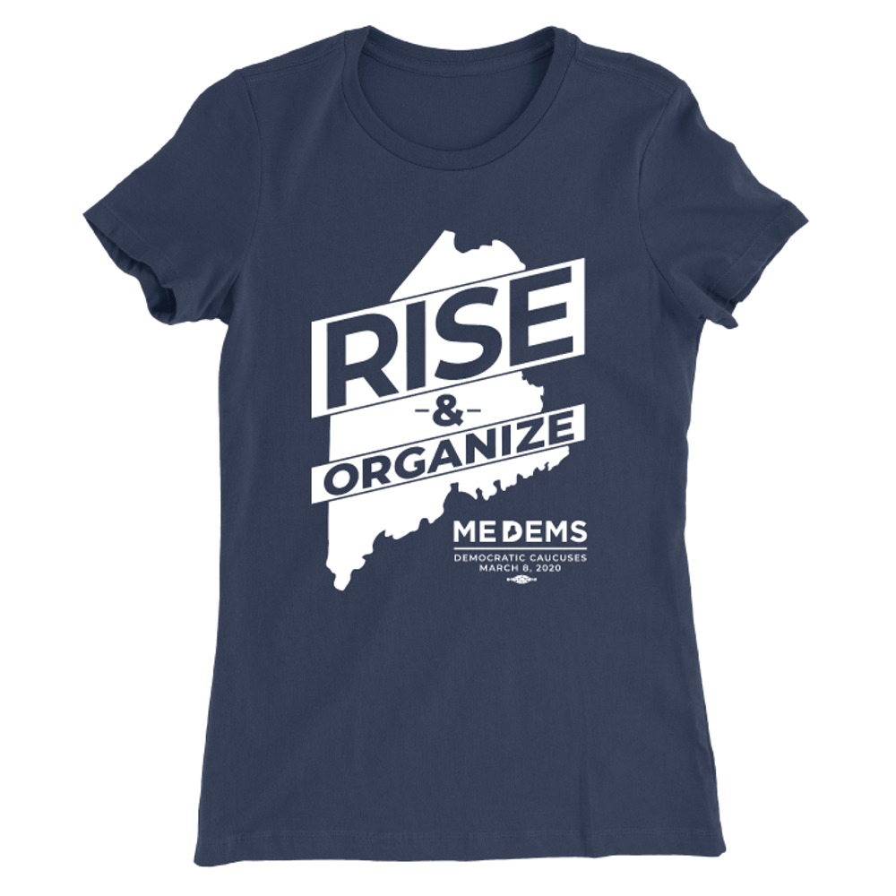 Rise And Organize (Unisex & Fitted Navy Tee)