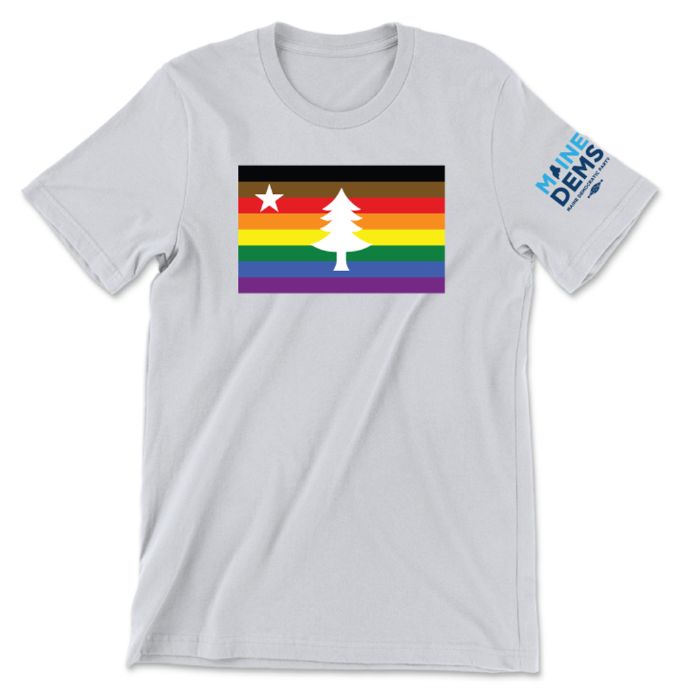 1901 Maine Flag - Extended Pride (Classic & Fitted Platinum Tee)