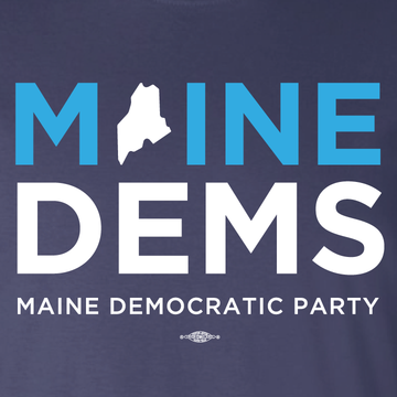 Maine Democratic Party Official Logo (Ladies Navy Tee)