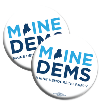 "Maine Democratic Party Official Logo (2.25"" Mylar Button -- Pack Of Two!)"