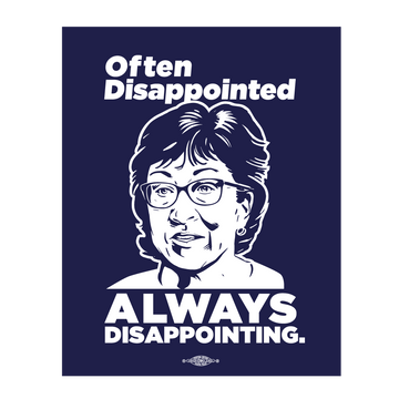 "Always Disappointing (4"" x 5"" Vinyl Sticker -- Pack of Two!)"