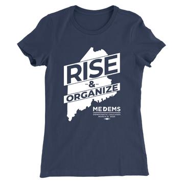 Rise And Organize (Unisex & Women's Navy Tee)